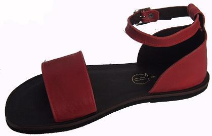 Queen Size Exclusive Ladies Footwear, Flat Sandal with heel cover and ankle strap, Summer Collection.