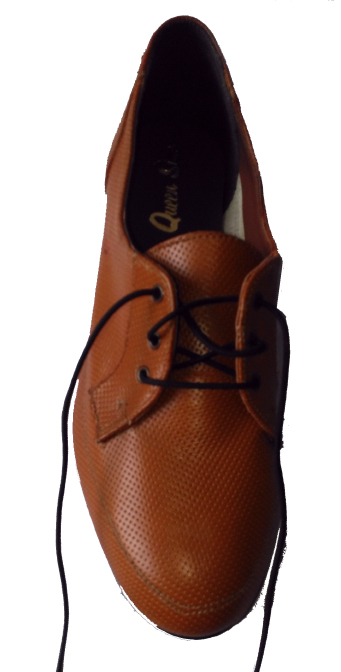 Queen Size Exclusive Ladies Footwear, Lace-up Court, Brown, Winter Collection.