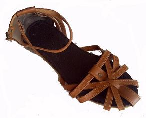 Queen Size Exclusive Ladies Footwear, Flat Cage Sandal, Brown, Summer Collection.