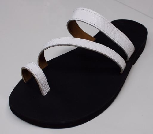Queen Size Exclusive Ladies Footwear, Flat Sandal with bridge straps and toe band, Summer Collection.