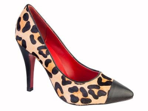 Queen Size Exclusive Ladies Footwear, Court Animal print Topaz heel, New Range.