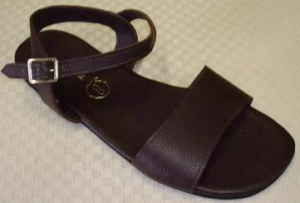 Queen Size Exclusive Ladies Footwear, Flat Sandal with ankle strap, Summer Collection.