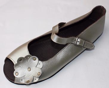 Queen Size Exclusive Ladies Footwear, Peep-Toe, Gold, New Range.
