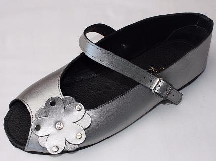 Queen Size Exclusive Ladies Footwear, Peep-Toe, Gunmetal, New Range.