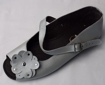 Queen Size Exclusive Ladies Footwear, Peep-Toe, Grey, New Range.