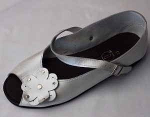 Queen Size Exclusive Ladies Footwear, Peep-Toe, Pearl, New Range.