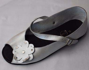Queen Size Exclusive Ladies Footwear, Peep-Toe, Pearl, New Range.