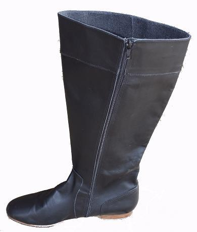 Queen Size Exclusive Ladies Footwear, Low heel Knee-high boot, Winter Collection.