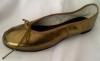 Queen Size Exclusive Ladies Footwear, Fashion Pumps, Ballet Pumps with a Twist, Gold.