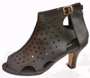 Queen Size Exclusive Ladies Footwear, Zip-up Peep-toe heel, Black, Sale.