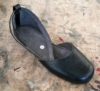 Queensize Shoes, Marike - flock ankle strap flat shoe.