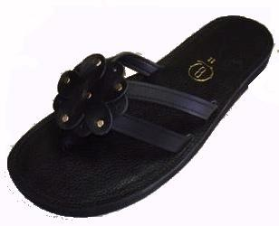 Queen Size Exclusive Ladies Footwear, Flat Sandal with flower detail, Summer Collection.