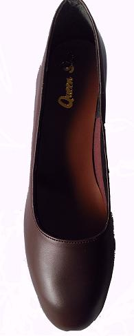 Queen Size Exclusive Ladies Footwear, Classic Court, Brown, Winter Collection.