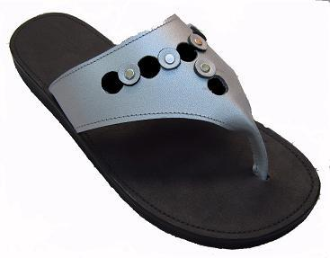 Queen Size Exclusive Ladies Footwear, Flat Sandal with Leather detail, Summer Collection.