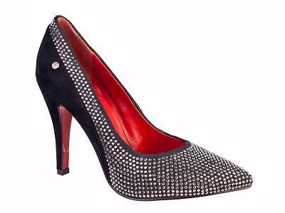 Queen Size Exclusive Ladies Footwear, Court Detail Sapphire heel, New Range.
