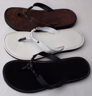 Queen Size Exclusive Ladies Footwear, Wood bead, Leather detail, flat sandal, New Range.