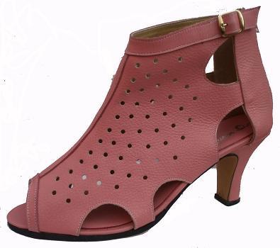 Queen Size Exclusive Ladies Footwear, Zip-up Peep-toe heel, red-brown, Sale.